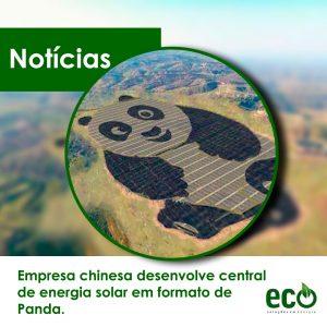 Empresa chinesa desenvolve central de energia solar em formato de panda