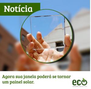 Agora sua janela poderá se tornar um painel solar